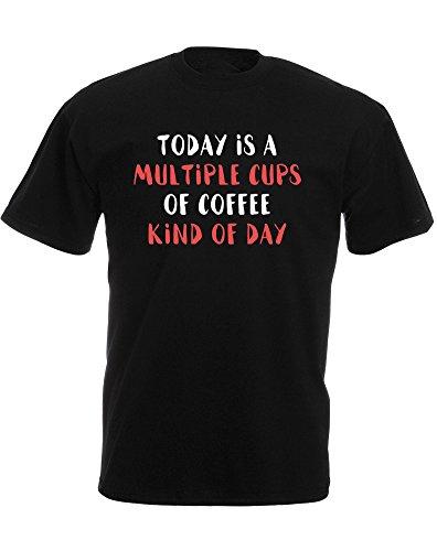 Brand88 - Brand88 - Multiple Cups of Coffee, Mann Gedruckt T-Shirt Schwarz/Weiß/Rote