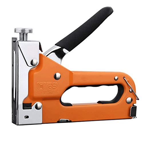 Bomcomi Manuelle Nageln Maschine gerade Nagel Shooter Holzverarbeitung 3 in 1 Typ U T-Form Staple Pusher (Staples Ladegerät)