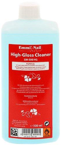 Emmi-Nail High-Gloss Cleaner: Reinigungsmittel für Gelnägel und Nageldesign, entfernt Schwitzschicht, pflegt die Hände und verleiht Glanz, 500 ml -