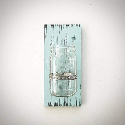 Mason Jar Holder - 5,5 x 12 Mason Jar Clamp Holder - Holz Mason Jar Bathroom Zahnbürstenhalter - Glas Halter - Mason Jar Sign ()