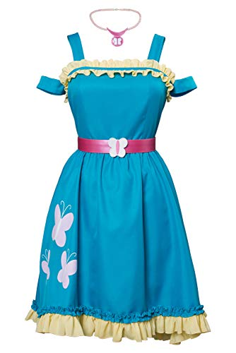 MingoTor Anime Fluttershy Kleid Cosplay Kostüm Blau Damen L