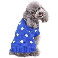Ropa para Mascotas,Gusspower Chaqueta Ropa de Abrigo Invierno Sudadera Jersey Punto Estampado cálido cómodo para Mascotas Gato Perro