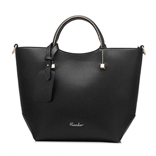 Realer Wasserdichte Top Handtasche Hobo Taschen Große Clutch Purses für Frauen mit langen Riemen (Hobo Große Handtasche Weiche)