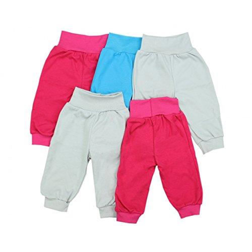 Baby-Pumphose-Basic-Schlupfhose-Jungen-100-Baumwolle-Jersey-Babyhose-Mdchen-Sommerhose-im-5er-Pack