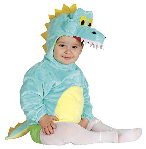 Baby Krokodil grünes Kostüm für Kinder Tierkostüm Tier Alligator Reptil Nil grün Gr. 74-92, - Alligator Kostüm