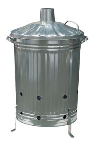 Gardman Large Metal Galvanised Dustbin Composter