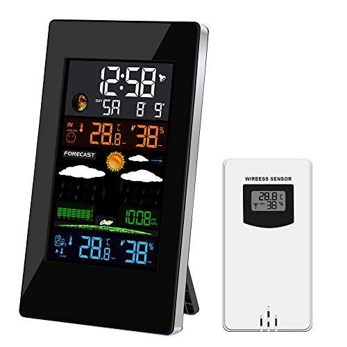 URESMAT Estación Meteorológica Inalámbrica Digital con Sensor Exterior,...