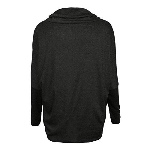 Yalatan Spring Autumn Women Long Sleeve Sweatshirt Solid Loose Hoodies Sweatshirts Tops black