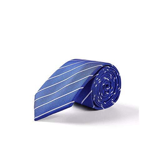 pyty123 Krawatte Diagonale Streifen Klassische Großzügige Blau Gestreifte Krawatte - Blau Diagonale Streifen-krawatte