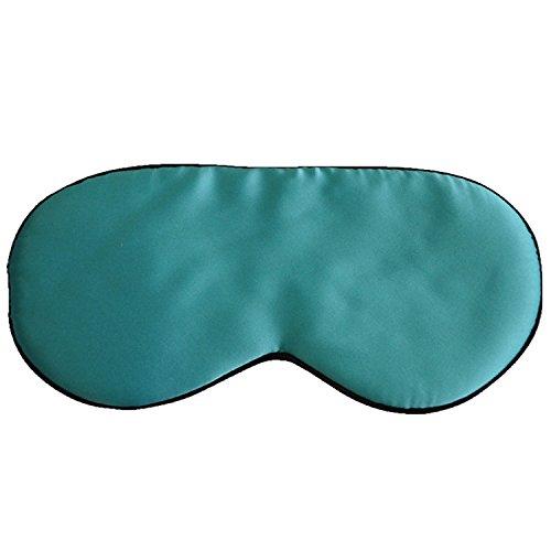 Antifaces para Ojos de Seda/Antifaz para Dormir/Máscara del Sueño/Anti-luz Sombra de Dormir para Viaje y Resto (Verde)