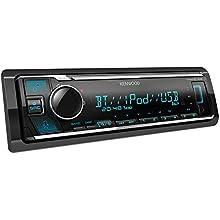 Kenwood KMM-BT306 USB Car Radio with Bluetooth Hands-Free System (Alexa Built-in, Sound Processor, MP3, Spotify Control, 4x50 Watt, Adjustable Lighting) Black