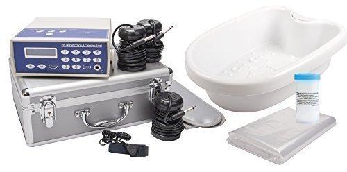 Detox Ion Cleanser Galvano Set im ALU Servicekoffer Fußelektrolyse/Fußbad. Komplettset mit Spulen, Wanne, Salz und Schonern.