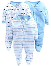 2cf44af335a4 ONLINE CHOICE Born Baby Long Sleeve Cotton Sleep Suit Romper for Boys and  Girls Set of