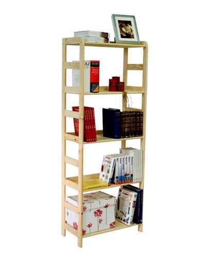 HOLZREGAL Kiefer Massiv Regal Bücherregal Büroregal Modulregal R-* 8 Varianten (R-09 HxBxT 166x63x33 cm)