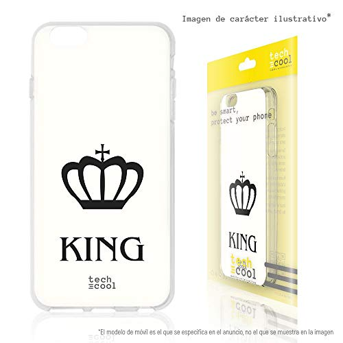 Herren Corona Bier (Funnytech Alcatel 1X Hülle SchutzHülle Soft TPU Silikon Transparent für Alcatel 1X l Case, Cover, Handy, High Definition Druck [Diseño Corona King Fondo Blanco])