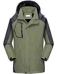 poches à S-6XL Men/'s couture étanche Imperméable capuche Fermeture Éclair Veste Imperméable