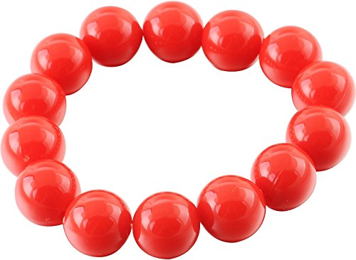 - Stretch-Armband mit roten Perlen - Designer-Armbänder (Designer Modeschmuck)