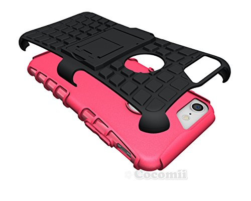 iPhone 8 / iPhone 7 Hülle, Cocomii Grenade Armor NEW [Heavy Duty] Premium Tactical Grip Kickstand Shockproof Hard Bumper Shell [Military Defender] Full Body Dual Layer Rugged Cover Case Schutzhülle Ap Pink