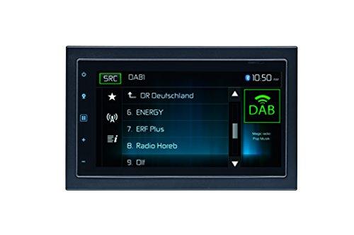 Mac Audio Mac 520 DAB | 6.8 Zoll Touchscreen 2-DIN Moniceiver für iPhone und Android | Bluetooth, DAB+ , Radio, USB | 4 x 50 Watt - schwarz (Screen Touch Auto Audio)