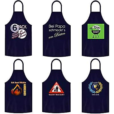 teprovo Männer Grillschürze Kochschürze Latzschürze Schürze Mann Kochen Grillen 116cm Dunkelblau Küchenschürze