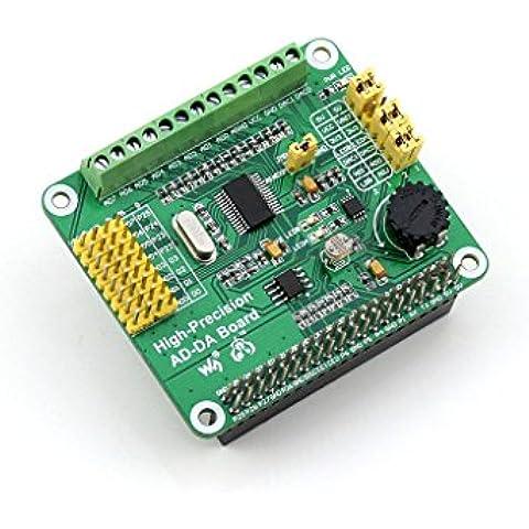 Waveshare Raspberry Pi AD/DA Expansion Sheild Board for Adding High-Precision AD/DA Functions to Raspberry Pi Onboard ADS1256 DAC8552 Sensor