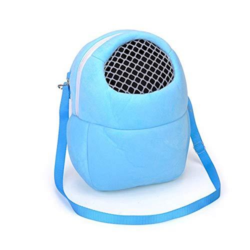 (Haustier Transport Tasche Tragetasche mit Atmungsaktivem Mesh-Fenster passt für Hamster, Totoro, holländisches Schwein, M)