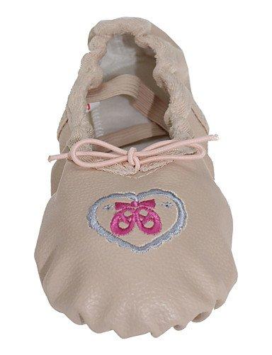Le coin des enfants Chaussures de Danse Ballet Ballet de similicuir talon plat pour les filles Beige