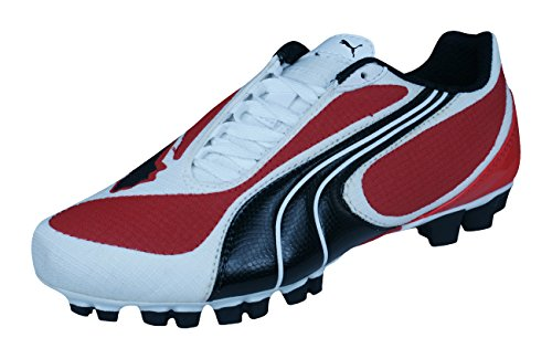 Puma v5.08 SL HG terrain dur junior Chaussures de football - Rouge
