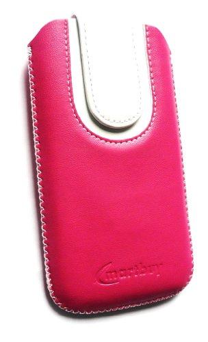 Emartbuy ® Schwarz / Grün Premium Pu Leder Tasche Hülle Schutzhülle Case Cover (Größe X-Large) mit Ausziehhilfe Geeignet Für Apple Iphone 5 Hot Rosa / Weiß Hülle