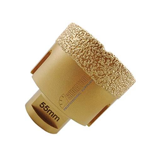 SHDIATOOL Diamant-bohrkrone Durchmesser 55mm Diamanthöhe 15MM für Porzellan Fliese Granit Marmor Trockenbohren