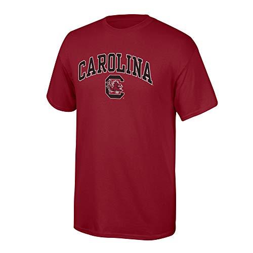 eLITe NCAA Team Farbe Arch T Shirt, Herren, NCAA T Shirt Team Color Arch, Granat, XX-Large - South Carolina Rot Shirts