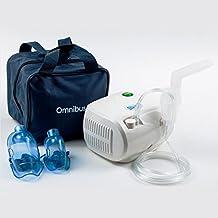 Omnibus BR-CN116B - Nuevo inhalador Aparato para inhalación de medicamentos líquidos con compresor Nebulizador (Blanco)