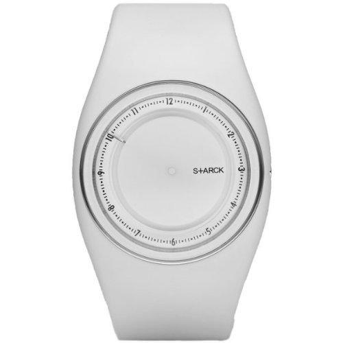 Philippe Starck PH5037PH5037-Armbanduhr, Armband aus Kunststoff Farbe weiß