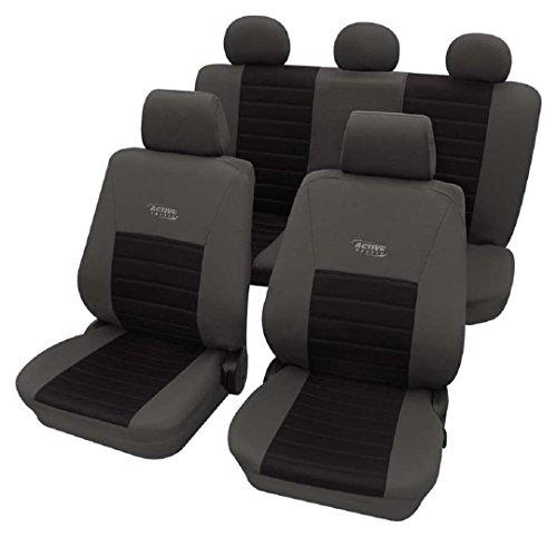 Universal Stoffsitzbezug Zum Sonderpreis!! Autositzbez/üge in Diesem Angebot Gr/ün. Schonbez/üge Trend Line Passend f/ür Seat Ibiza