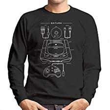 Sega Saturn Patent Blueprint Men's Sweatshirt