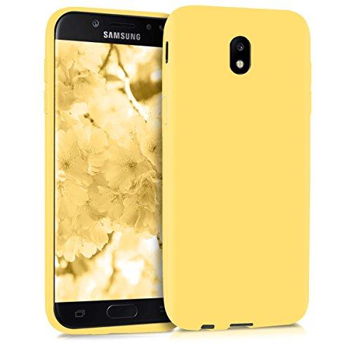 kwmobile Funda para Samsung Galaxy J5 (2017) DUOS - Carcasa para móvil en TPU Silicona - Protector Trasero en Amarillo Mate