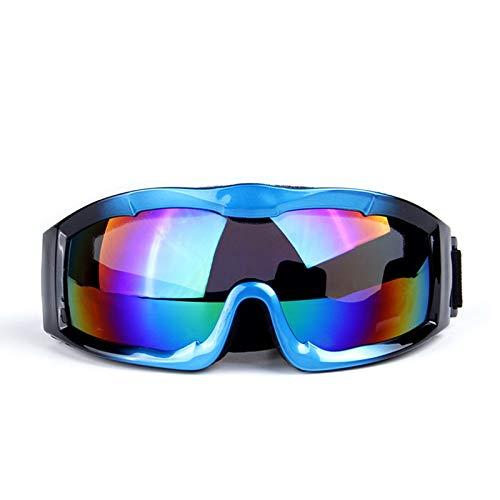 Aienid Fahrradbrille Jungen Blau Schwarz Skibrille Winddichter Augenschutz Size:17.8X7.5CM