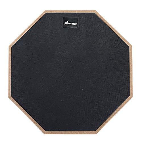 AsmuseTM Übungspad Schlagzeug 12 Zoll Practice Drum Pad-Grau