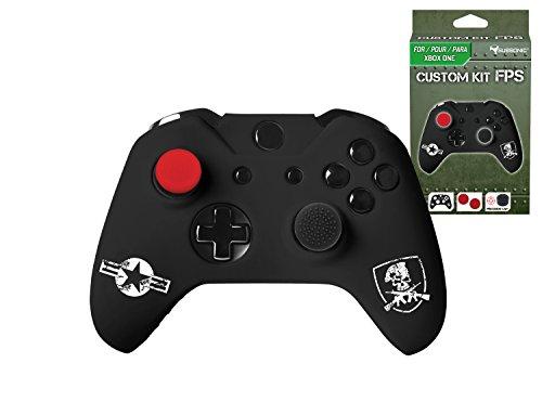 Subsonic – Kit de customisation pour manette Xbox One et Xbox One S – Housse en silicone pour manette Xbox One avec grips pour joysticks – CAMO / FPS