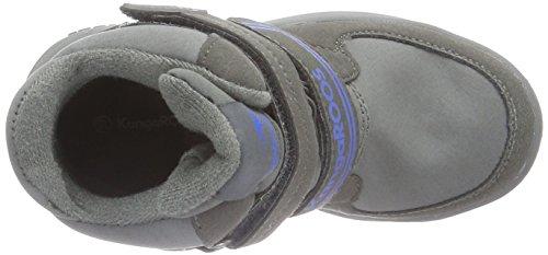 KangaROOS Kamlo, Bottines à doublure froide mixte enfant Gris - Grau (Dk Grey/Royal Blue 245)