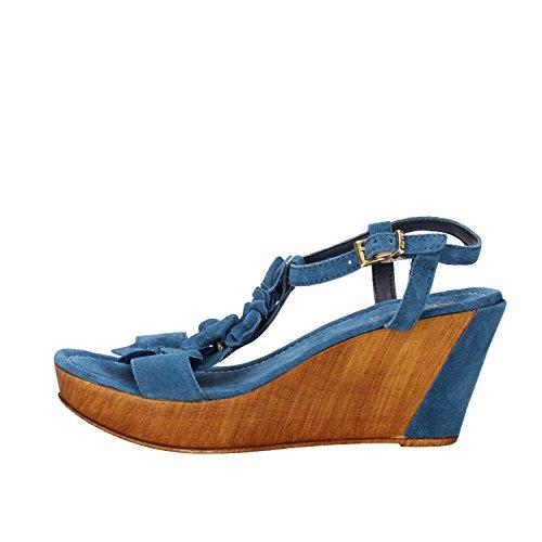 KEYS sandali donna corallo / blu / beige camoscio Blu