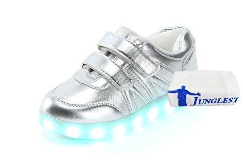 (Present:kleines Handtuch)JUNGLEST Damen Hohe Sneaker Weiß USB Aufladen LED Leuchtend Fasching Partyschuhe Sportsc c7
