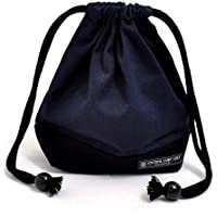 Preisvergleich für Drawstring Gokigen lunch (small size) with gusset bag cup deep navy x Ox black made in Japan N3567700 (japan import)