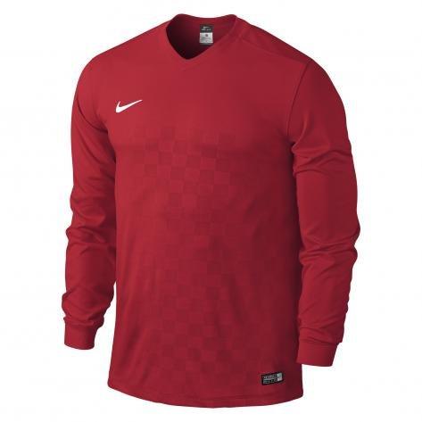 Nike Long Sleeve Top YTH Energy Iii Jersey, Bambini, Jersey Energy III, rosso