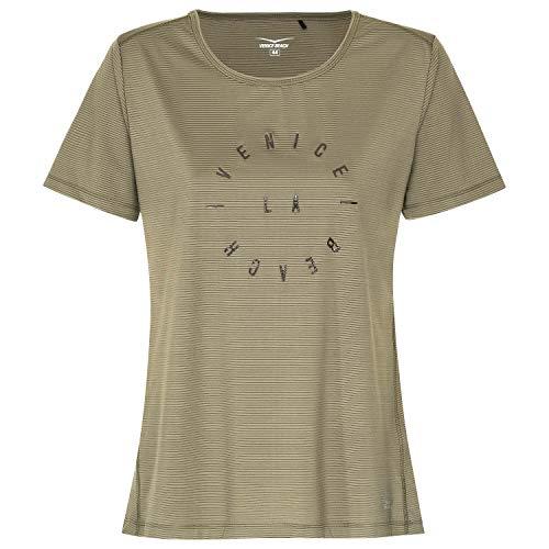 Venice Beach Damen T-Shirt Curvy Fit Paulina 41029 deep Lichen 44 (T-shirt Beach Fit Damen)