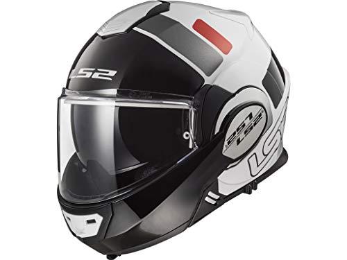 LS2 FF399 VALIANT PROX - Casco da moto, taglia L, colore: Bianco/Nero/Rosso