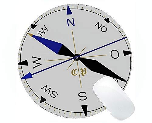 Preisvergleich Produktbild Karten-runde Mausunterlagen Besonders angefertigt,  Kompass-Rosen-Schädel-Kompass-runde Mausunterlagen