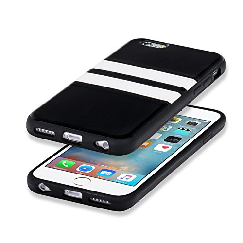 iPhone 7 Hülle, Conie Mobile Backcover für iPhone 7 Rückschale Sport Design Case Schutzhülle aus TPU Silikon in Braun Weiss