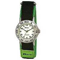 Ravel Children's Glow in the Dark Green Nylon Strap Watch
