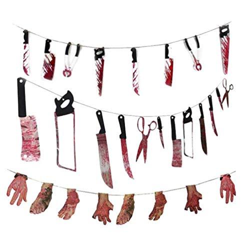 Zonster Halloween-Party-Horror Spuk Spukhaus Hängen Garland Anhänger Banner Partei DIY Dekorationen Halloween-Dekoration